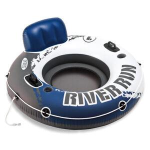 INTEX River Run Badespaß Badeinsel Luftmatratze Schwimmring 135cm Getränkehalter