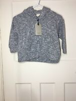 Zara Girls Grey Super Soft Hooded Sweatshirt With Front Pockets Age 4 Years
