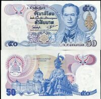 THAILAND 50 BAHT ND 1985-1996 P 90 a SIGN 54 Fade SERIES UNC