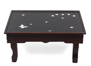 New Foldable Mother Of Pearl Table Korea Traditional Vintage Oriental Antique US
