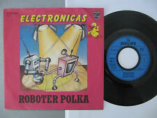 """7"""" Electronica's Roboter Polka VG+ Vinyl Singles electronicas plays perfect!!!"""
