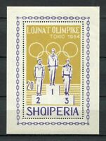21700) ALBANIA 1964 MNH** Olympic G. Tokyo S/S