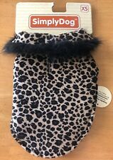 NEW SIMPLY DOG Cheetah Print Fleece Jacket Coat Size XS