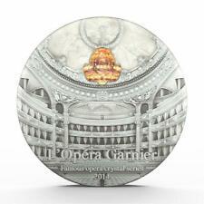 Palau 2014 $10 Famous Opera Crystal Series Paris Palais Garnier 2 Oz Silver Coin