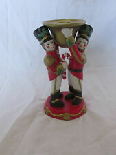 PartyLite P7704 Toy Soldier Nutcracker Taper Candle Holder Christmas Porcelain
