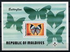 MALEDIVEN MALDIVE 1975 Schmetterling Butterfly Farfalla Papillon Block 19 ** MNH