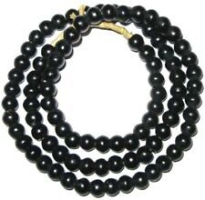 Amazing Vintage Black Padre Bohemian Glass African Trade Beads