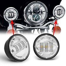 4.5Inch Cree LED Fog Light Lamp Driving Daymaker Indicators For Harley Davidson