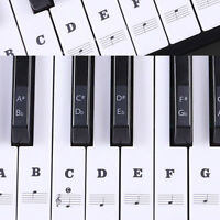 2PCS Piano Music Keyboard Stickers Speed memory Of The Keys 49/54/61/88 KEY #FX