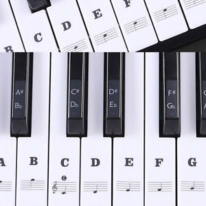 Removable Music Keyboard Piano Stickers For 49, 54 ,61or 88 Stickers Decal #S04