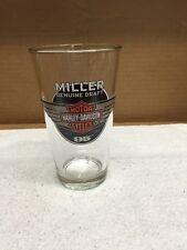 Miller Genuine Draft Harley Davidson Beer Glass