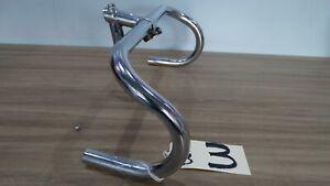 VINTAGE CHROMED STEEL GB 531 SPEARPOINT 6cm STEM and MATCHING CHROME HANDLEBARS