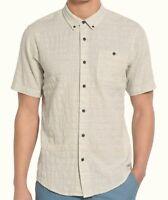 EZEKIEL Men's ONE WAY S/S Woven Shirt - OATM - Large - NWT
