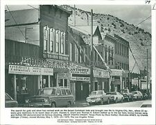 1979 Shops and Saloons in Virginia City Nevada Original News Service Photo