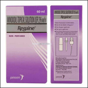 2 Pack-Regaine 2% For Women Hair Loss Treat & Regrowth Solution 60 ml