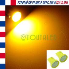 2X AMPOULE LAMPE VEILLEUSE 12V T10 W5W 1 LED COB ORANGE CLIGNOTANT REPETITEUR