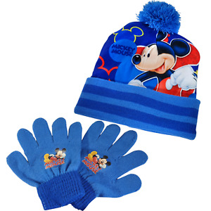 Disney Mickey Mouse Hat & Gloves Child Age 3+ Nursery School Gift Official Boys