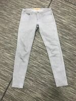 Levi's Made & Crafted Pins Skinny Jeans Women's W27 Gray Cotton/ Elastane