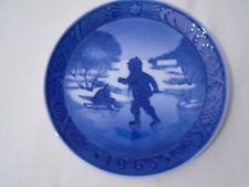 1965 Royal Copenhagen Christmas Plate Little Skater Mint Condition