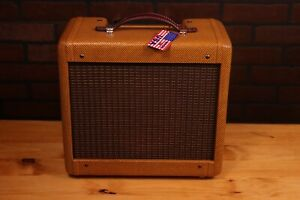 5F1 TWEED Champ Cabinet. 1x8 Speaker,Nitro lacquer