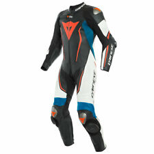 Dainese Misano 2 D-Air Perforated Leather Suit Black / White / Light Blue