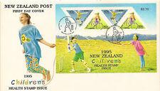 NUOVA Zelanda:1995 HEALT miniatura Foglio SG MS 1896 su FDC ILLUSTRATA