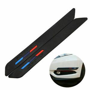 2PCS Car Bumper Sticker Front+Rear Anti-Scratch Corner Guard Protector Strip