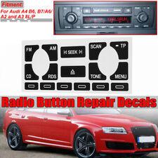 Radio Bouton Réparation Sticker Autocollant Pour Audi A4 B6 B7 A6 A2 A3 8L/P