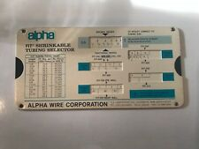 1974 Alpha Fit Shrinkable Tubing Selector & Products Chart slide chart (#1223)