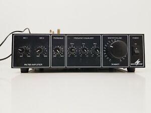 MONACOR PA-700 70 Watt PA Amplifier,  4/8/18 Ohm and 100V Line***Parts/Repairs**