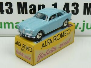 MRY1 Voiture 1/48 MERCURY hachette : ALFA ROMEO GIULIETTA SPRINT bleu