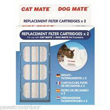 Pet mate Gato Perro Fuente De Agua Filtro De Repuesto Cartuchos 2 Pack