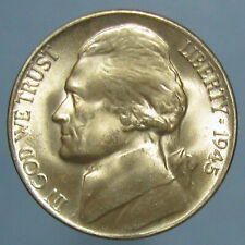 Gem BU 1945-D Jefferson War Nickel