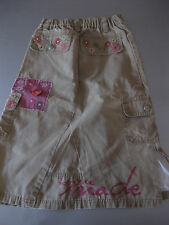 Jeans Rock Gr. 116 (6)Jeansrock Braun mit Stickerei TaschenSTACCATO wunderschön