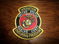 U.S MARINE CORPS OEF OPERATION ENDURING FREEDOM VETERAN EGA PATCH HEAT TRANSFER