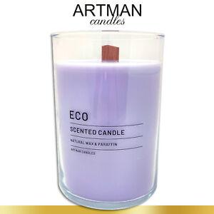 1,17 kg Duftkerze ECO im edlen Glas | Better Land | lila | Flachkopfkerze