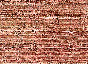 Faller Red Brick Wall Card 250x125mm N Gauge 222568
