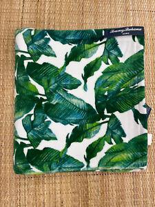 Tommy Bahama Tropical Palm Tree Bath Towel  100% Cotton Beach Spa Green 28X54 In