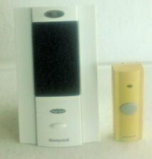 Used Honeywell Wireless Portable Doorbell Push Button and Chime, Wireless