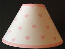 Pink Hearts Fabric Nursery Lamp Shade M2M Pottery Barn Kids Bedding