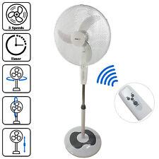 "16"" Pedestal Oscillating Pedestal Fan Tower DynaSun RD40BC White Remote Control"