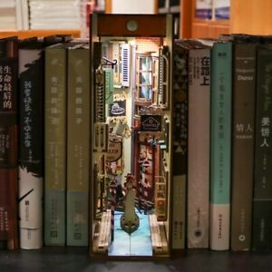 DIY Alley Book Shelf Nook Venice Italy Street Rear Lane Bookcase Wooden Model