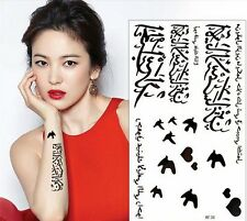 Arabic Tattoo Word Bird Black Temporary Tattoo Sticker Body Art Tatoo Waterproof