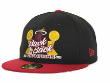 Miami Heat New Era 59FIFTY 2012 & 2013 NBA Champions Fitted Cap Hat - Size 7 1/4