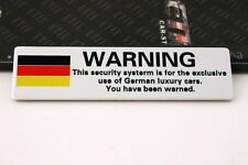 D657 DE Warning Auto Emblem emblème Badge Aufkleber PKW KFZ emblema Car Sticker