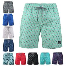 Trum Namii Boys Quick Dry Swim Trunks Seamless Flamingo Pattern Shorts