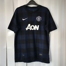 Manchester United Man U Football Away Shirt 2013/14, Kids Size 13-15 Years, Blue