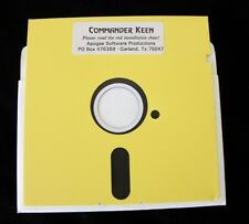 "COMMANDER KEEN by Apogee 5.25"" Floppy Disk PC DOS Rare Video Game (mail order)"