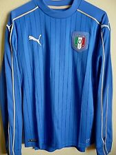 PUMA Italy FIGC 2016 Home Replica Long Sleeve Soccer Jersey S NWT 748832