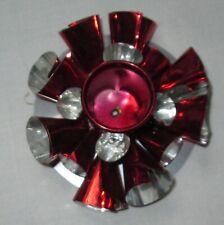 Vintage Red Japan Tin Foil Christmas Taper Candle Holder